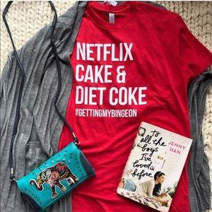 Netflix Cake Diet Coke Red Women's Shirt